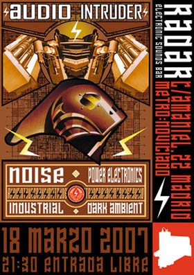 Diseño poster y flyer promocional para evento Radar - Electronic Sounds Bar.